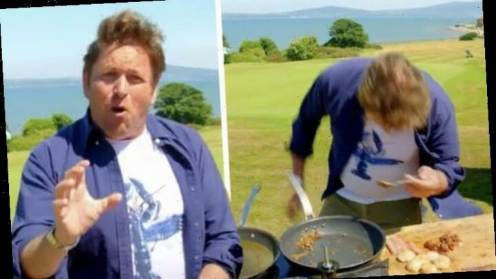 James Martin injures himself after issuing warning in cookery segment mishap