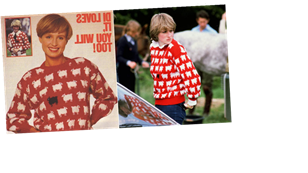 Knit Princess Diana's Iconic Black Sheep Jumper For Free With the Original Vintage Pattern