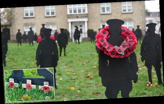 Moving display of 41 fallen soldiers' silhouettes erected in Suffolk