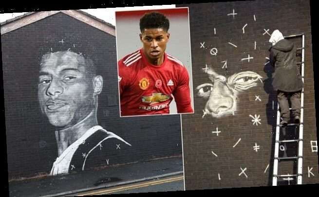 Marcus Rashford honoured with stunning mural in Manchester