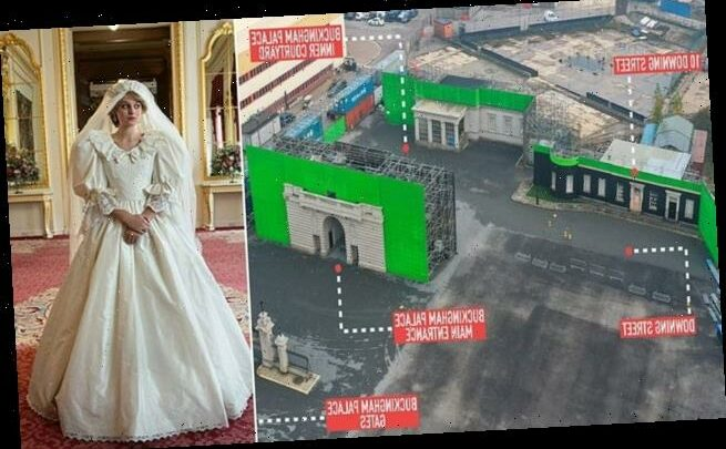 The Crown set shows Buckingham Palace and Downing Street yards apart