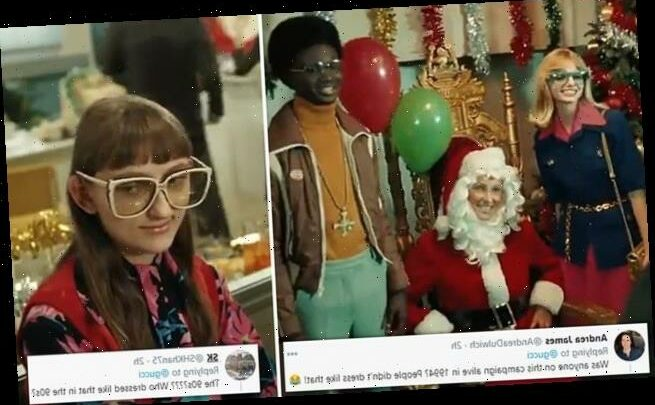 Gucci Xmas ad ridiculed for 90s clothes that look more like the 70s