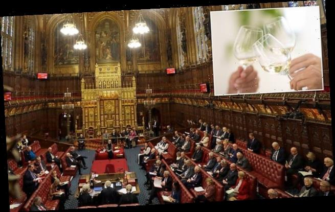 House of Lords spent nearly £2m on alcohol in five years, figures show