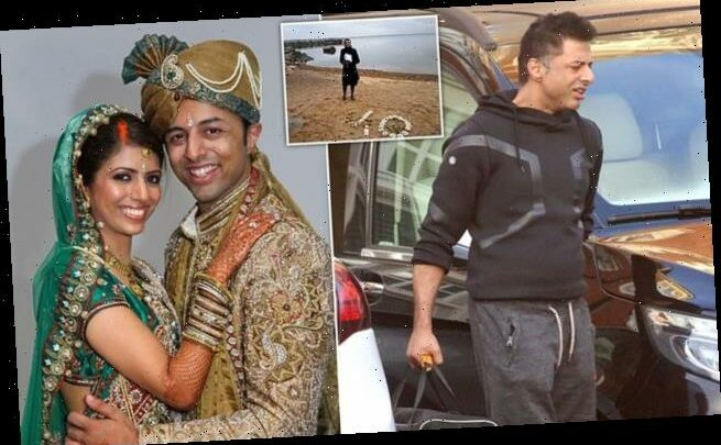 Shrien Dewani looks relaxed at flat tens years on from wife's murder
