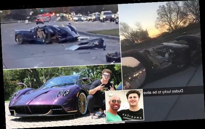 Texas teen crashes $3.4m purple Pagani Huayra Roadster
