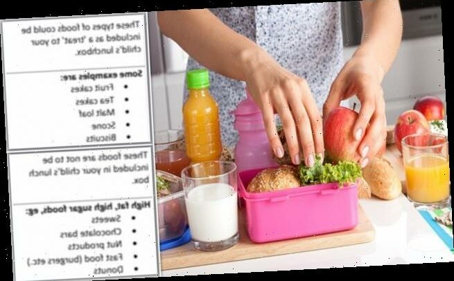 School lunchbox rules slammed as 'incredibly patronising'