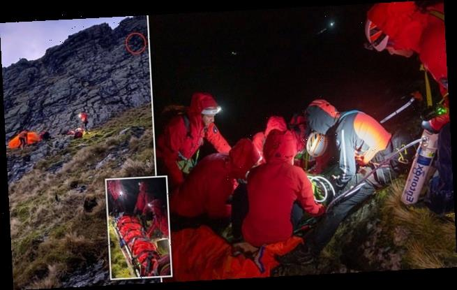 Couple climbing mountain on their SECOND date are rescued