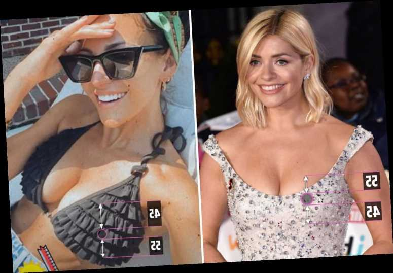 Michelle Keegan has the 'best boobs in the world' while Holly Willoughby's are 'near perfect' according to golden ratio
