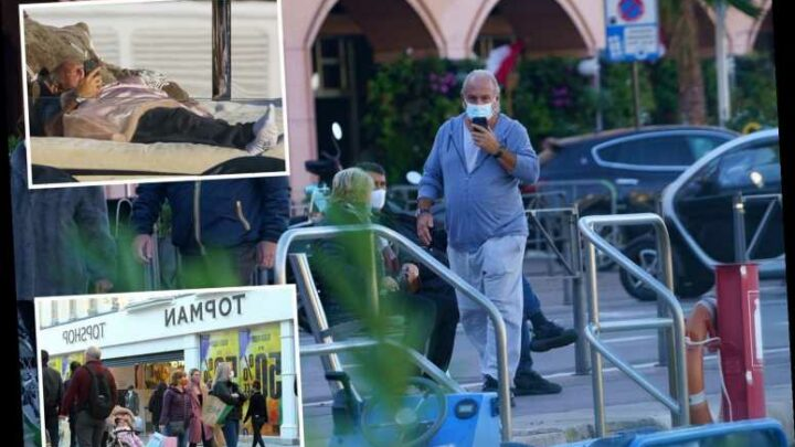 Topshop boss Sir Philip Green pictured relaxing in Monaco as retail empire 'could collapse in hours' costing 13,000 jobs