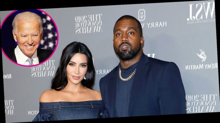 Kim Kardashian Puts on United Front With Kanye West After Supporting Biden