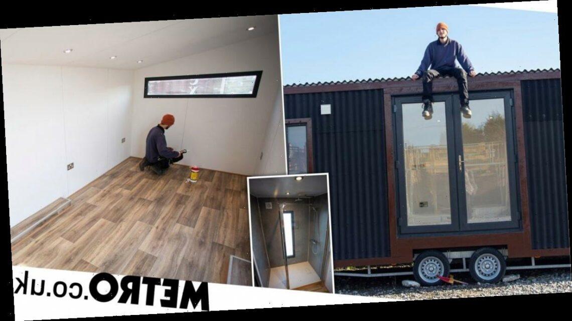 Builder raffles off the tiny £20k trailer home he built – for £3 per ticket