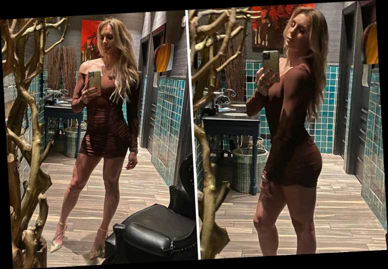 WWE star Charlotte Flair leaves fans stunned by showing off long legs in skin-tight brown dress in latest Insta selfies