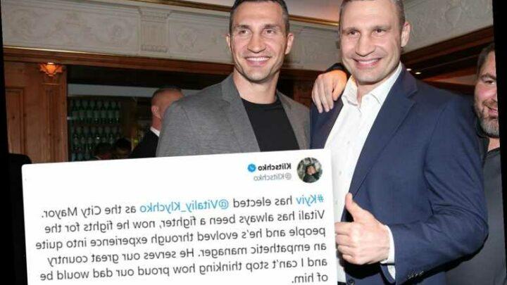 Boxing legend Vitali Klitschko re-elected Mayor of Kiev as brother Wladimir pays emotional tribute on Twitter