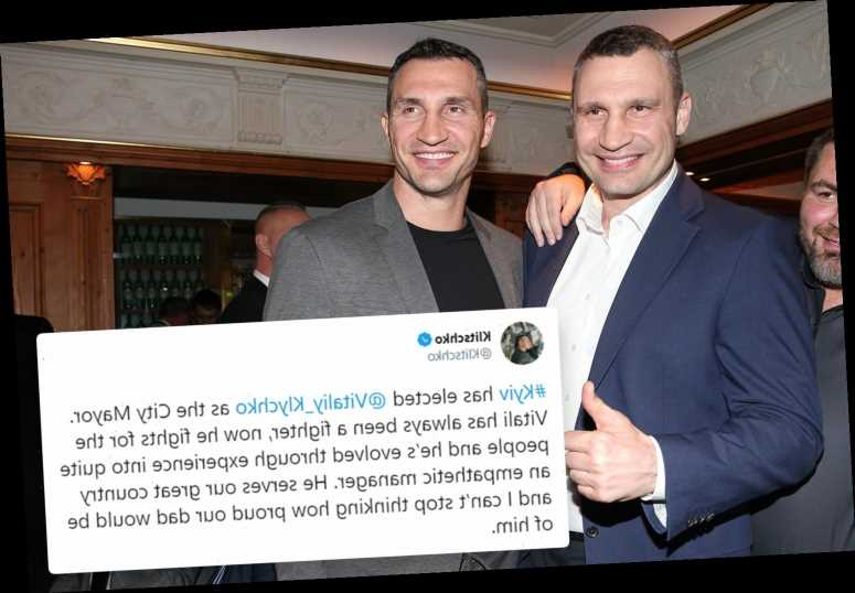 Boxing legend Vitali Klitschko re-elected Mayor of Kiev as brother Wladimir pays emotional tribute on Twitter
