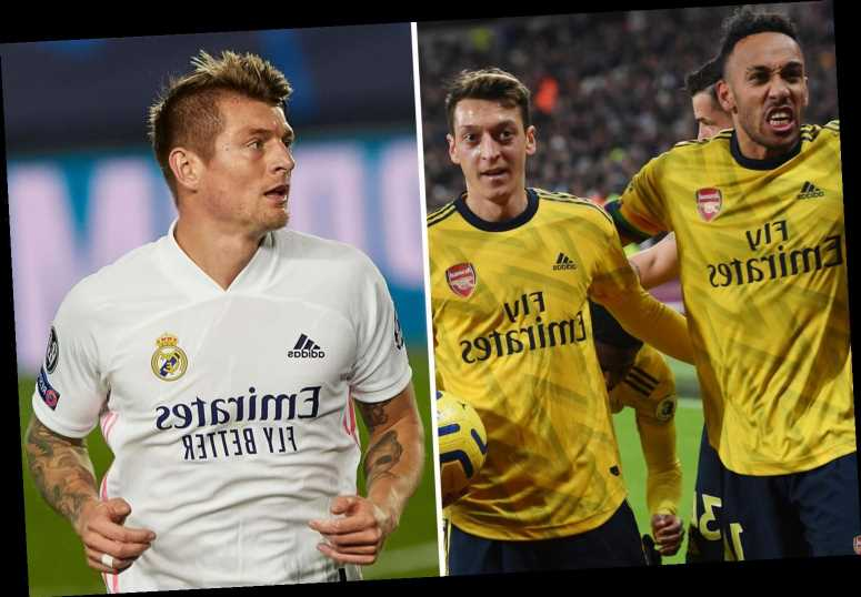 Toni Kroos says 'I'm not surprised by anyone anymore' after Mesut Ozil leapt to Aubameyang's defence in celebrations row