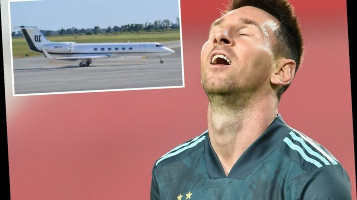 Lionel Messi has private jet stormed by Spanish tax agency on tarmac at Barcelona airport as he rages 'it's crazy'