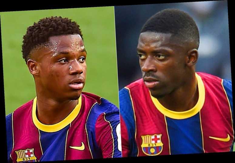 Man Utd transfer blow as Barcelona consider keeping Ousmane Dembele after devastating injury to Ansu Fati