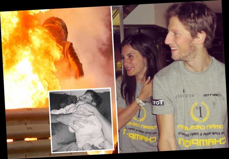 Romain Grosjean's wife Marion claims their children inspired F1 star to survive blazing fireball crash in emotional post