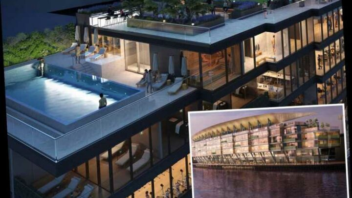 Fulham release design for Craven Cottage overhaul with new stand to house gym, restaurants and SWIMMING POOL – The Sun
