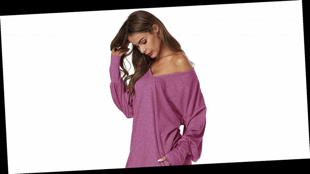 Obsessed! This V-Neck Tunic Is Basically an Elevated Sweatshirt