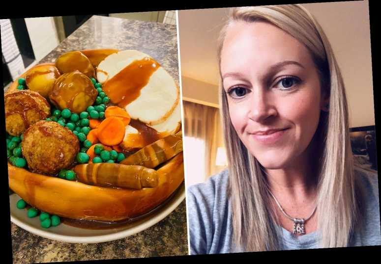 Mum pranks daughter with unbelievably realistic roast chicken dinner – made from CAKE