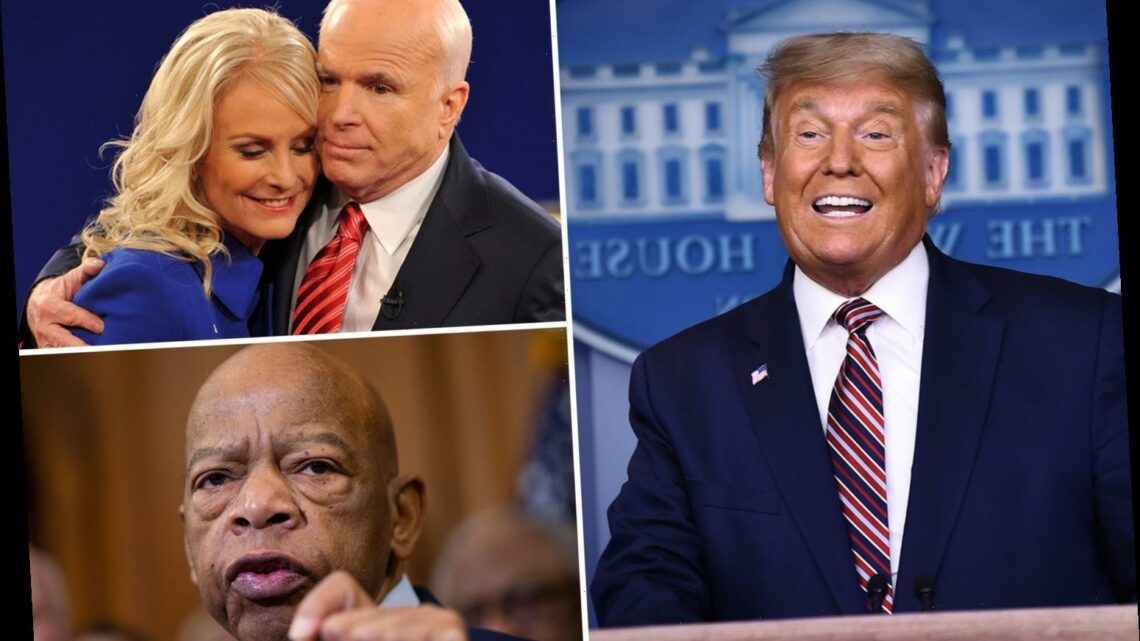US election 2020: How John McCain's widow and John Lewis' district could seal Trump's defeat after he mocked late icons