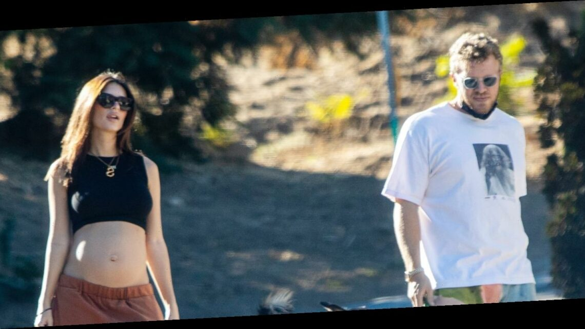 Emily Ratajkowski Bares Her Baby Bump While Hiking With Hubby Sebastian Bear-McClard