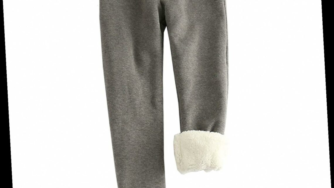 Amazon Shoppers Can't Get Enough of These Fleece-Lined Joggers Right Now