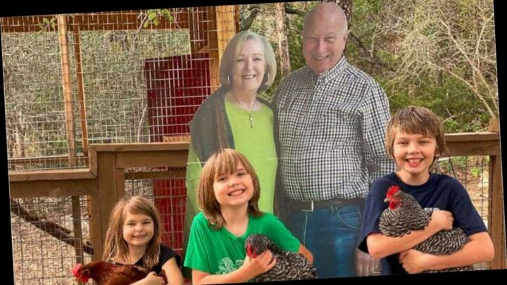 Grandparents Send 6-Foot Cardboard Cutouts of Themselves to Their Grandkids for Thanksgiving
