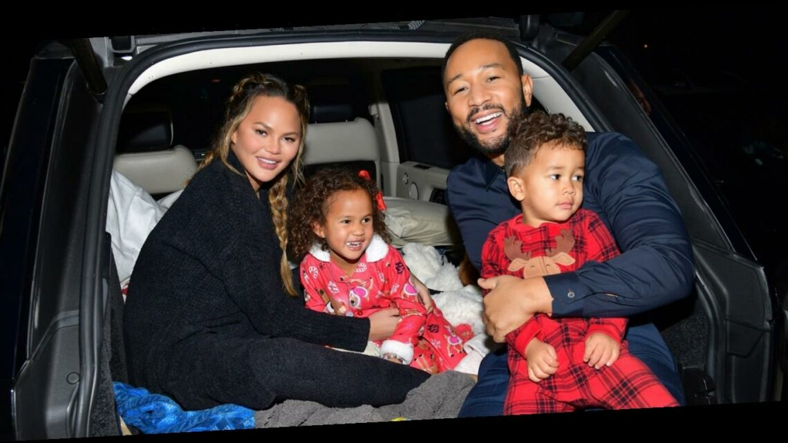 John Legend & Chrissy Teigen Bring Their Kids to Drive-In Premiere of 'Jingle Jangle'!