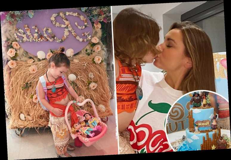 Inside Sam Faiers' incredible Disney Moana-themed birthday party for daughter Rosie with huge display and lavish cake