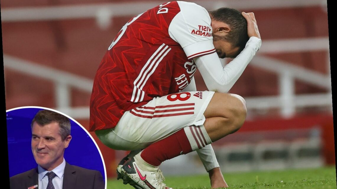 Watch Man Utd legend Roy Keane joke Arsenal 'still have enough to stay up' despite worst start in 39 YEARS