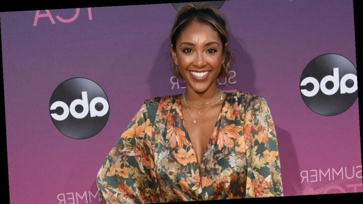 Tayshia Adams takes aim at reports that ex-husband Josh Bourelle was on The Bachelorette set