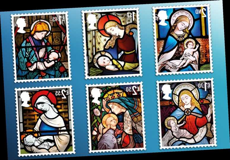 Royal Mail unveil six special 2020 Christmas stamps telling the Nativity story in stained glass