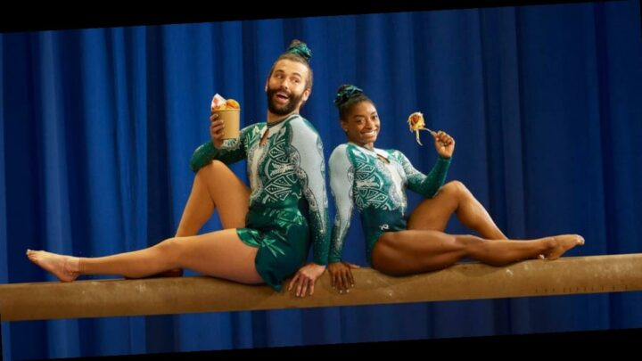 Simone Biles slammed a Christian group after it criticized the ad campaign she did with Jonathan Van Ness for 'pushing the LGBTQ agenda'