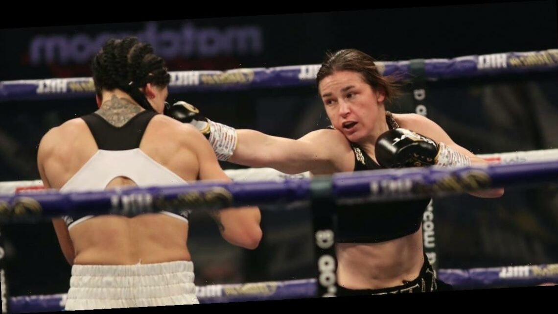 Fighting maestro Katie Taylor pitched a masterclass on Saturday and then said 'women's boxing is on fire right now'