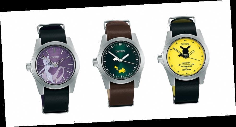 Seiko Releases an Electrifying Pokémon Watch Collection