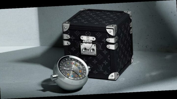 Louis Vuitton Releases GMT Travel Clock With Tailor-Made Trunk Case