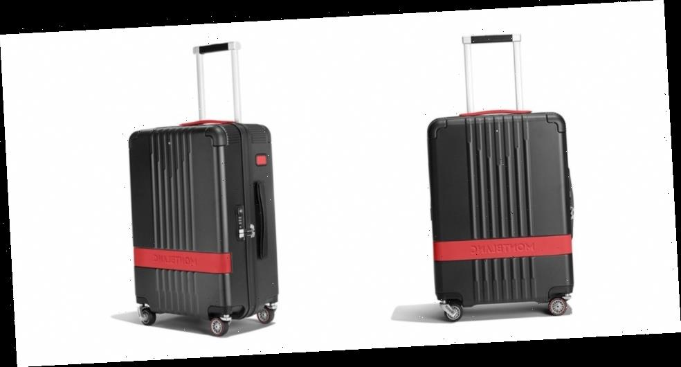 Montblanc's Latest Sturdy Suitcase Features Pirelli's Race-Ready Tires