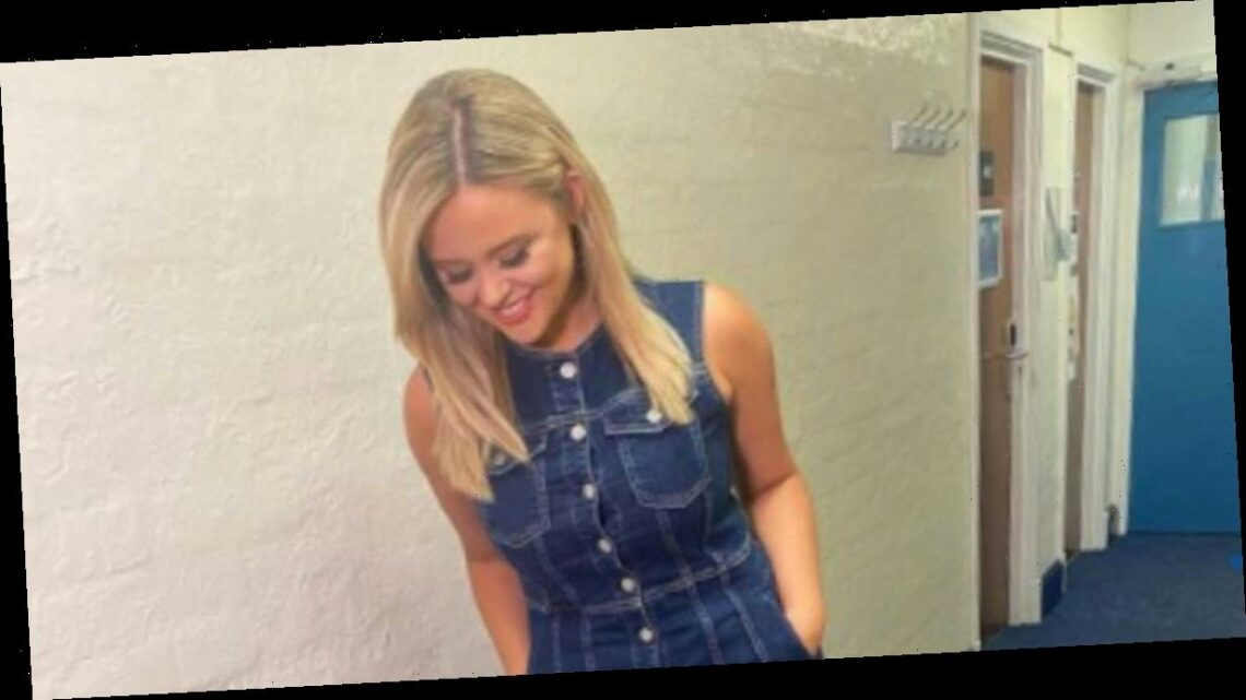 Emily Atack thrills Celebrity Juice fans as she shows off pins in teeny dress