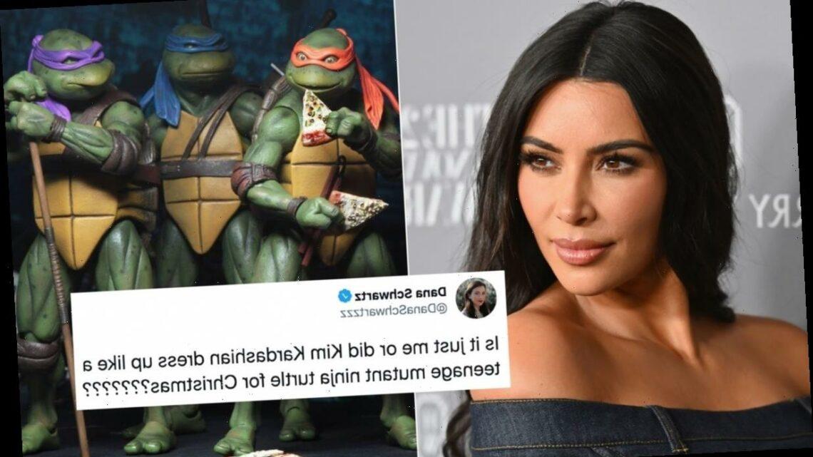 These Tweets Roasting Kim Kardashian's Christmas 2020 Dress Are Brutal