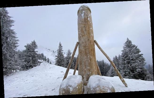 New phallus sculpture appears in Bavarian mountains