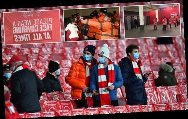 Football fans FINALLY return to a Premier League stadium at Arsenal
