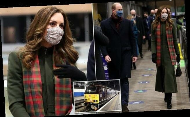 Duke and Duchess of Cambridge head off for royal train tour of Britain