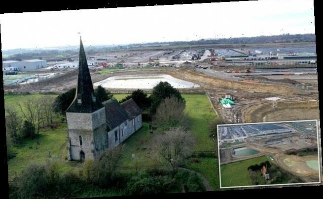 Future of ancient church cast in doubt by Kent's new Brexit lorry park