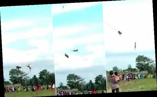 Boy, 12, swept into the air by a kite – before plunging more than 30ft