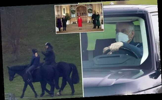 Prince Andrew is spotted horse riding in Windsor