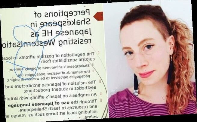 Lecturer stunned as hackers doodle genitals across her presentation