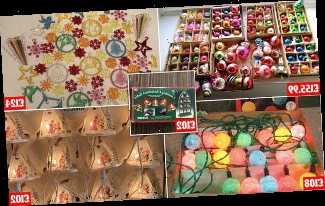 Sales of retro decorations have boomed this Christmas