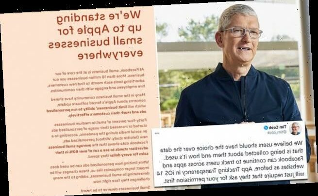 Tim Cook hits back at Facebook in row over iPhone privacy updates